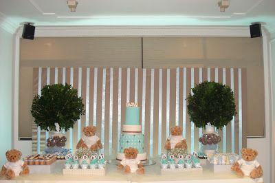 Ideias para festas e Chá de bebe: CHÁ DE BEBE DE MENINO