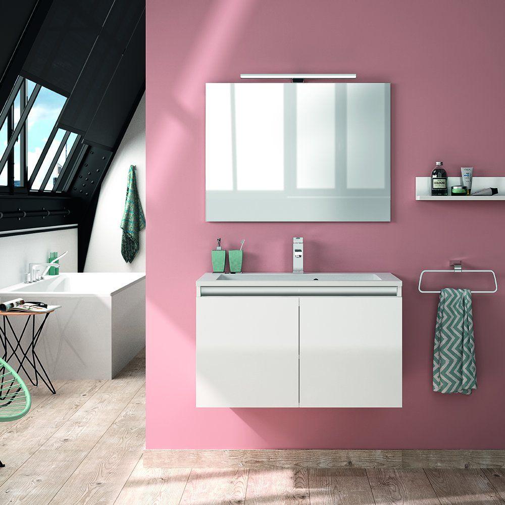 meuble de salle de bains blanc Allibert