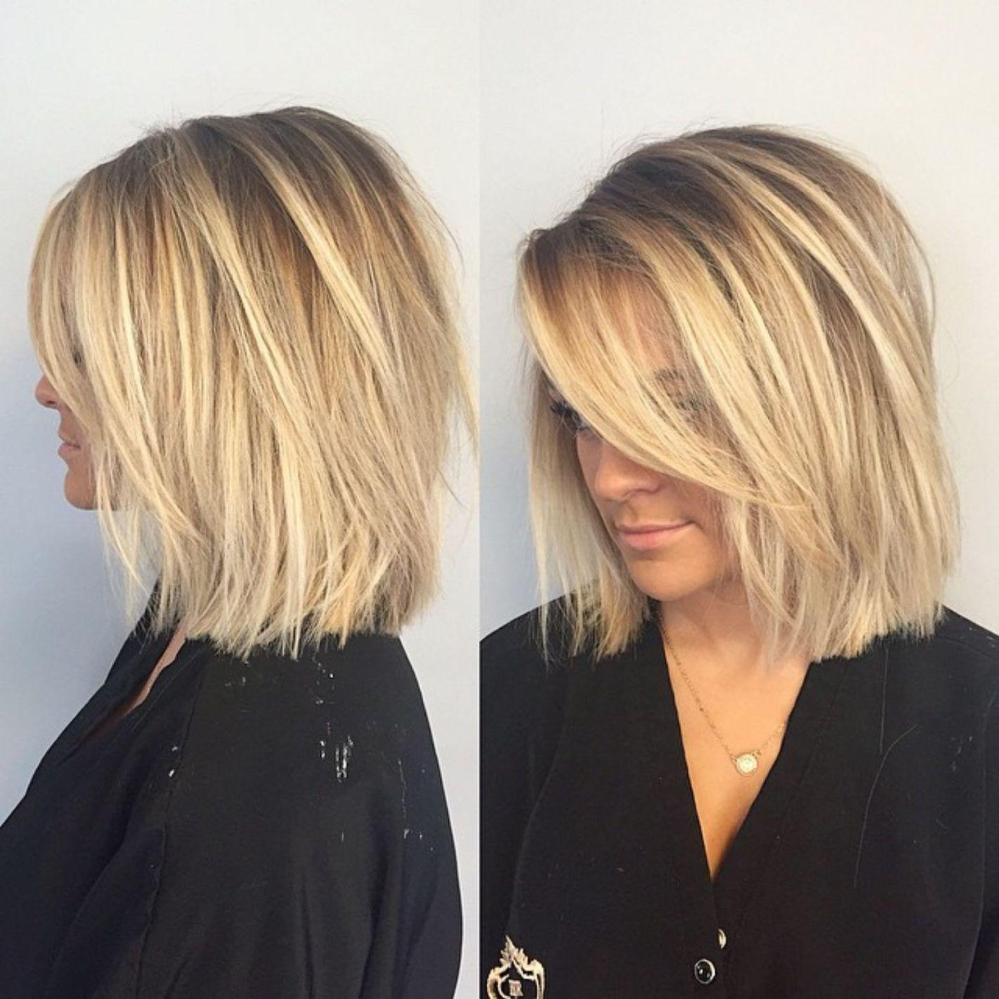 Choppy Blonde Lob Medium Length Hair Styles Shoulder Length Straight Hair Short Hair Lengths
