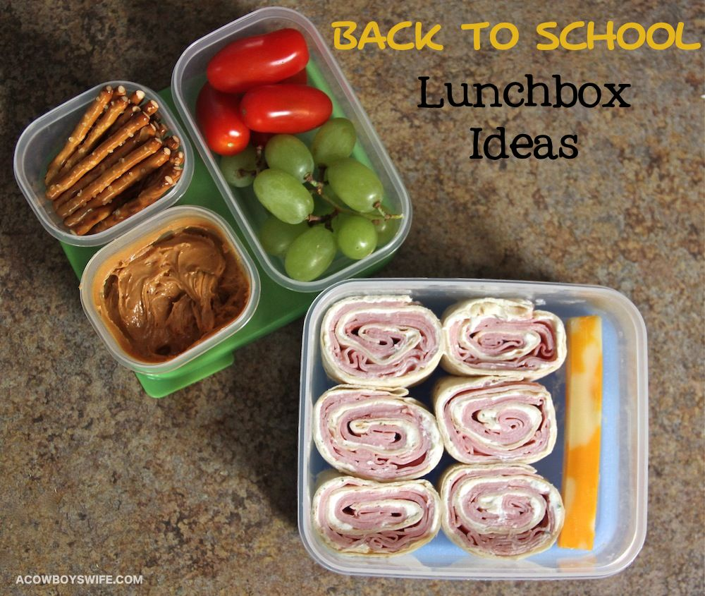 Back to school lunchbox ideas from acowboyswife cool parents ham pinwheels back to school lunchbox food ideas forumfinder Image collections