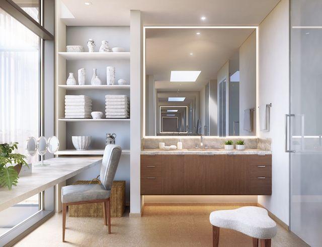 The vanity room in Honolulu's newest premium condominium development, Park Lane Ala Moana.
