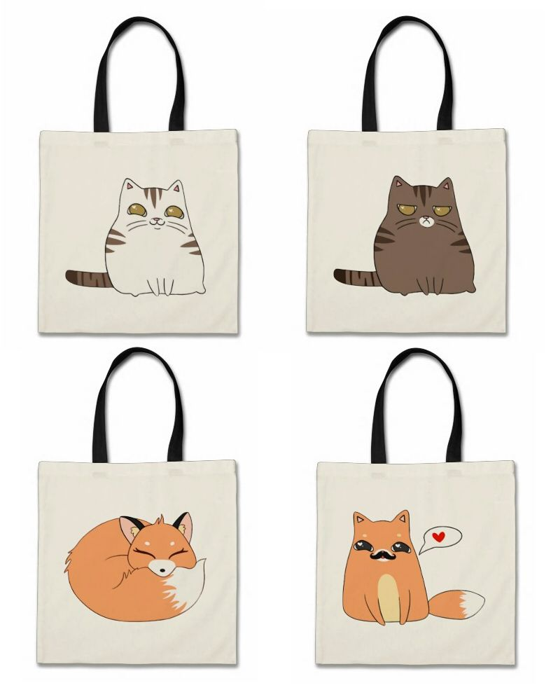 Cute Animal Tote Bags: http://www.zazzle.com/adorkible/tote+bags #shopping #gifts #tote #bags