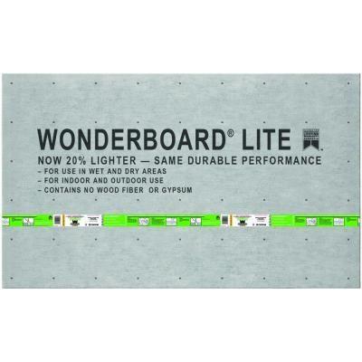 Custom Building Products Wonderboard Lite 5 Ft X 3 Ft X 1 4 In Backer Board Flb60l Backer Board Backerboard Decorative Tile Backsplash