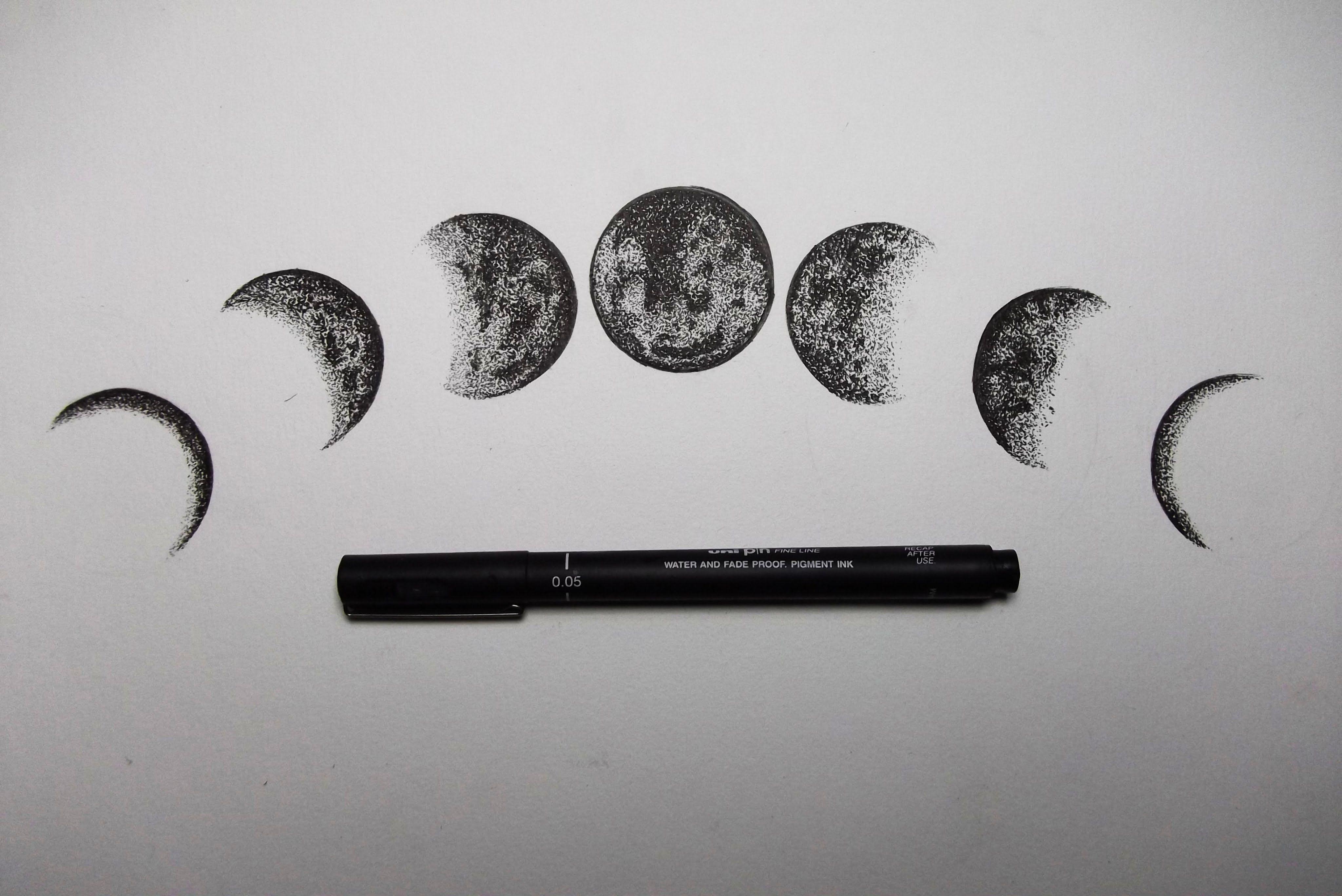 Drawing Moon Google Search Moon Tattoo Hip Tattoo Moon Phases Tattoo
