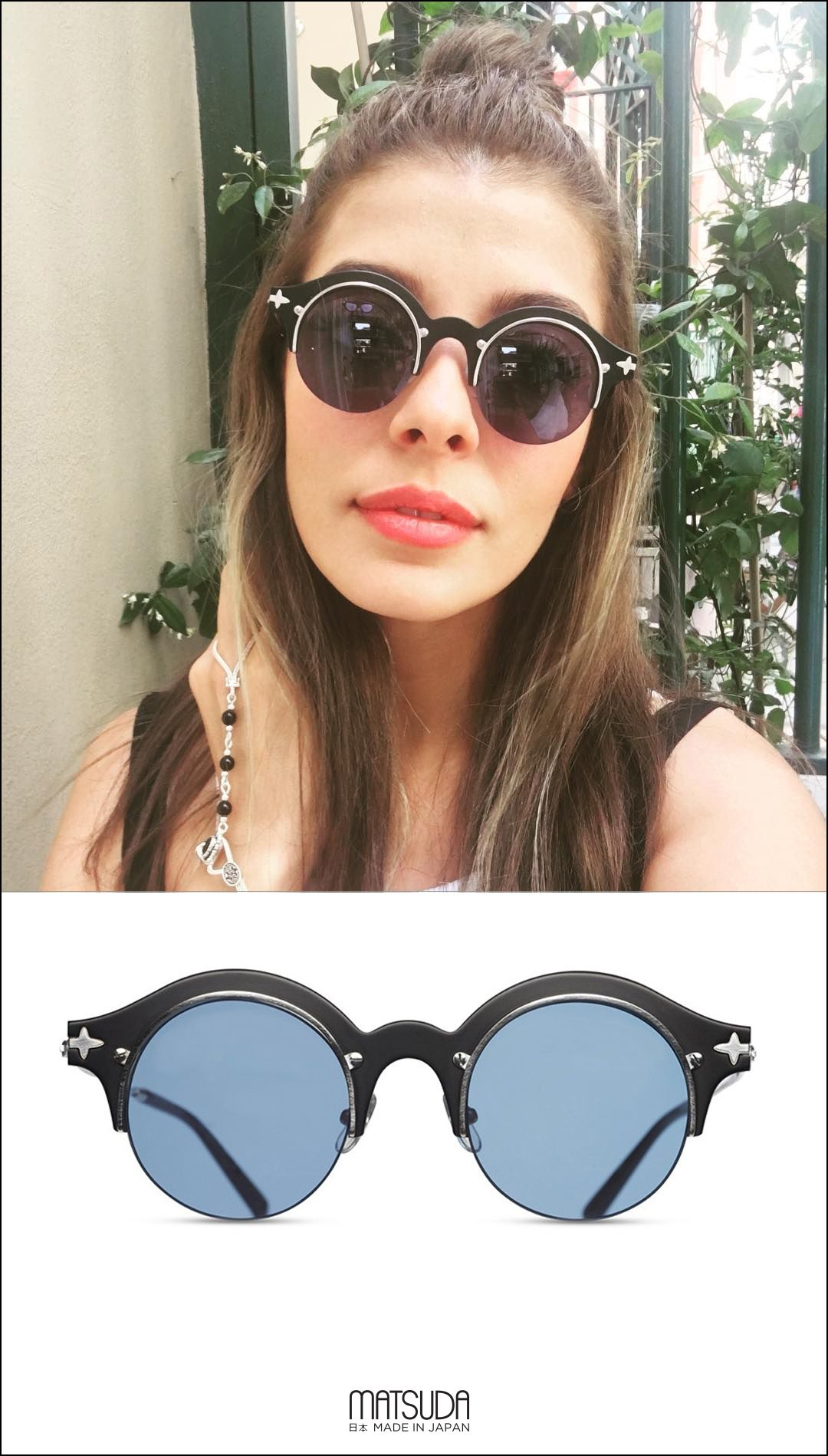 8e2b5ae4d8 Turkish Actress Selin Şekerci wearing the Matsuda Sunglasses