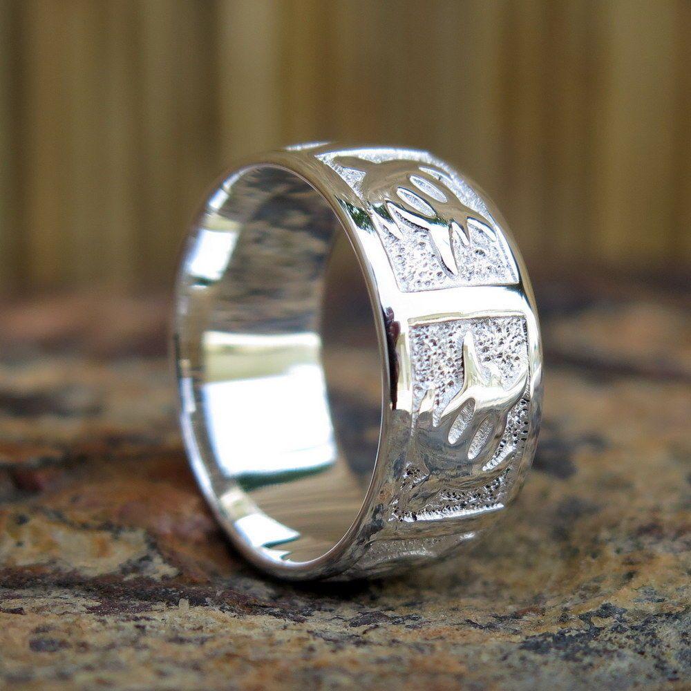 Hawaiian sterling silver honu sea turtle wedding engagement ring