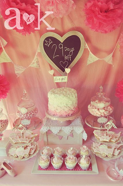 pink princess baby shower party ideas