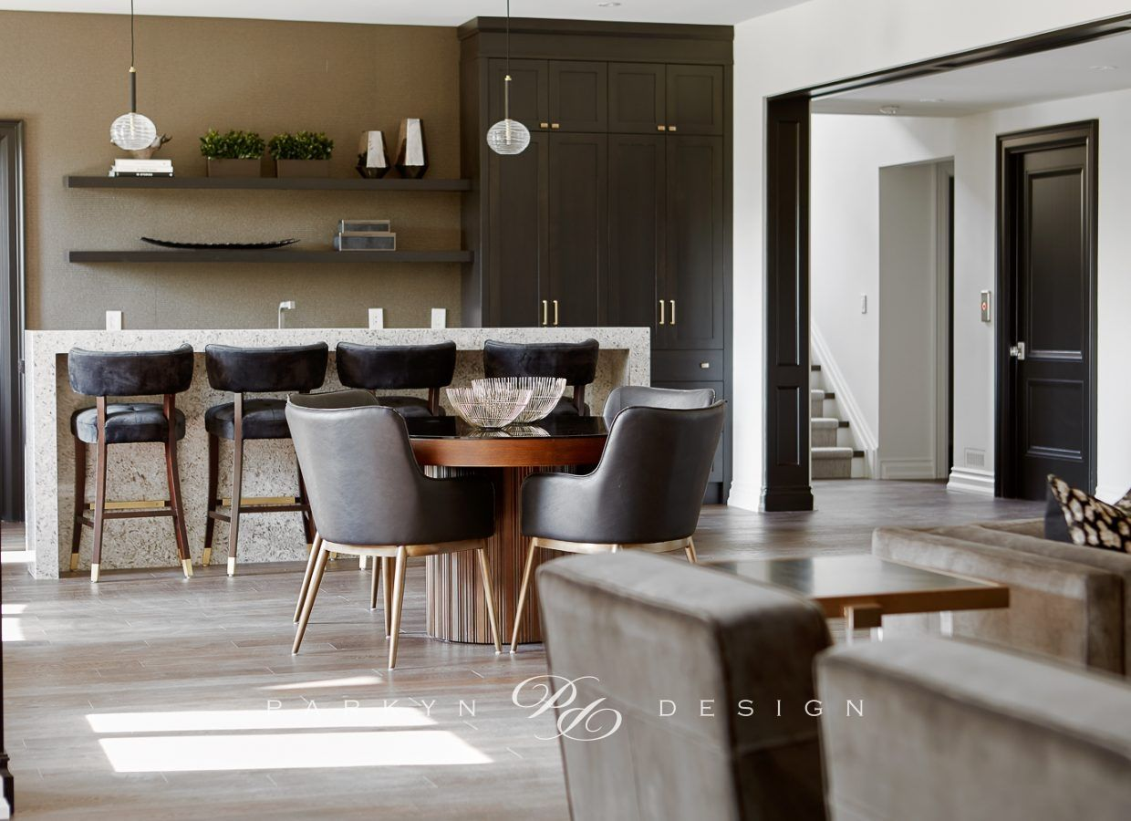 A Large Open Concept Basement That Incorporates A Neutral Colour Palette All While Having Contrast In 2020 Living Spaces Show Home Home Decor