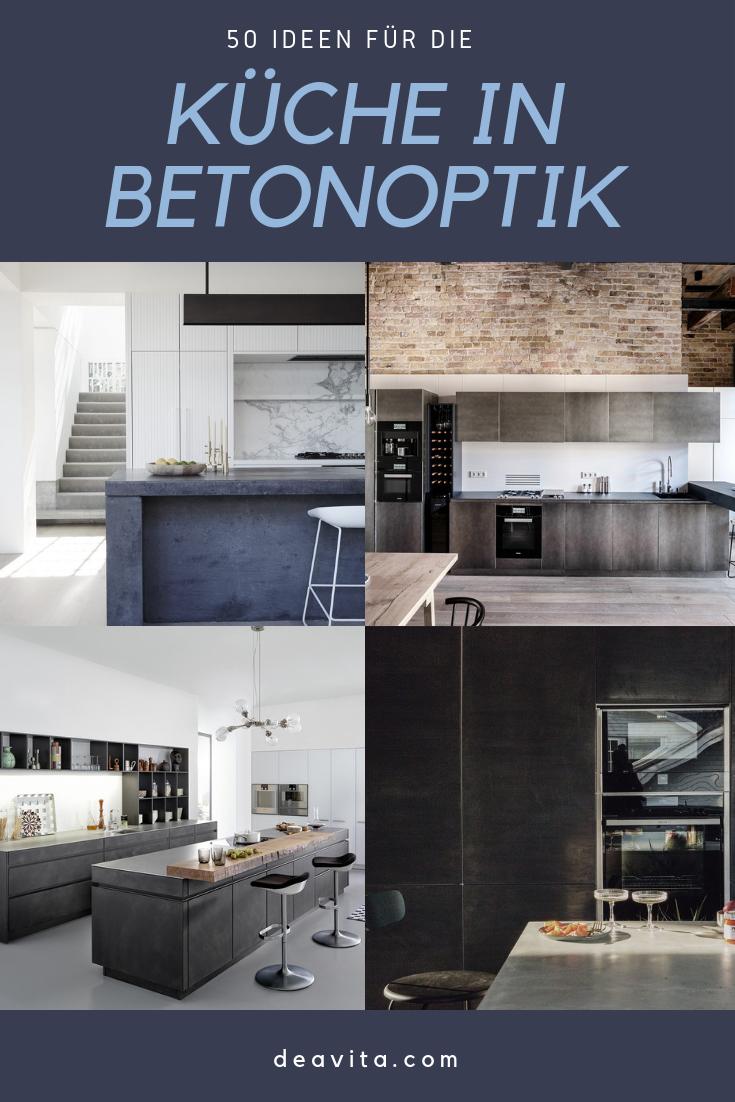 Verwenden Sie für die Küche Betonoptik und schaffen Sie