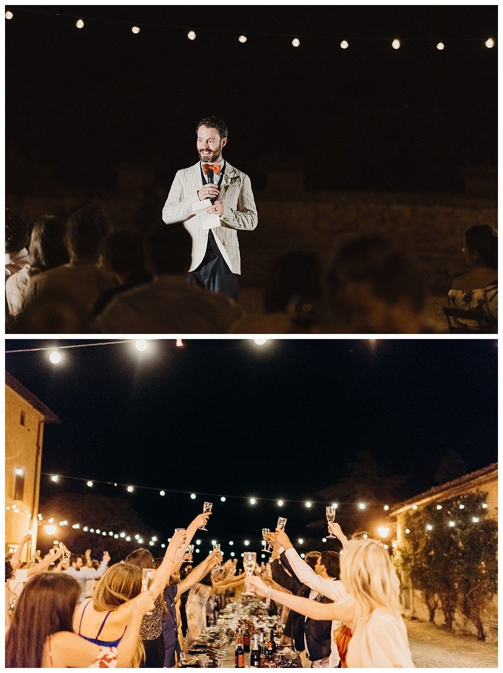 Grooms Speech And Toasts At Italian Wedding In Tuscany