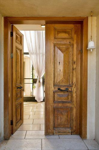 Rustic Tuscan spanish hacienda master bedroom doors LOVE THESE ...