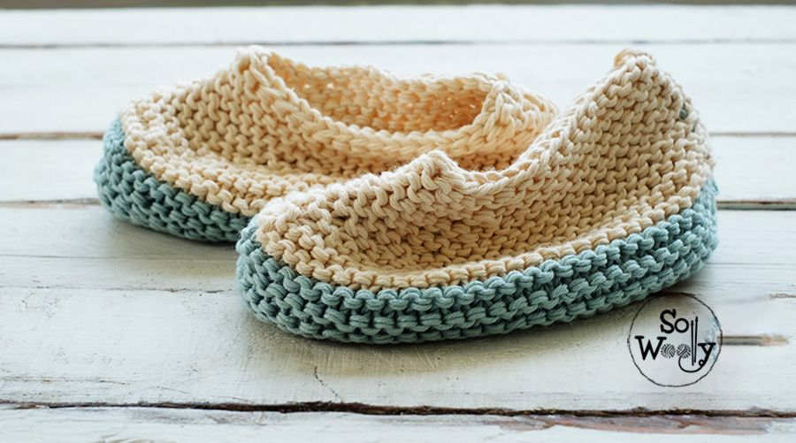 Easy slippers, a knitting pattern for beginners - So ...
