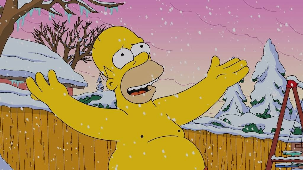 Snowy Snow Snow Thesimpsons The Simpsons Movie The Simpsons Simpsons Funny