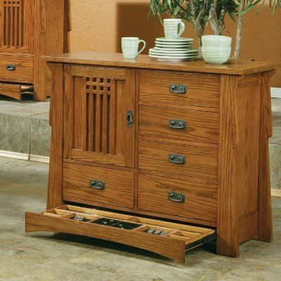 AYCA Furniture AP55621 Bungalow One Door Butler Chest Sideboard