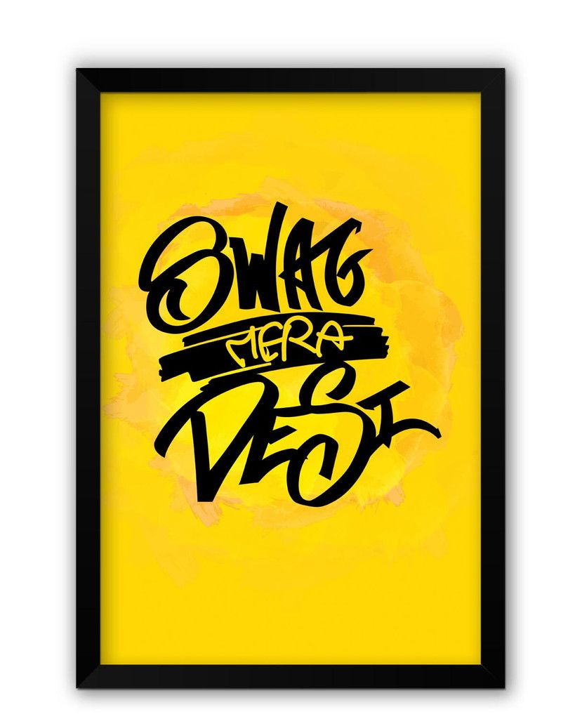 Swag Mera Desi Typography Laminated Framed Poster | Posters and Wall ...