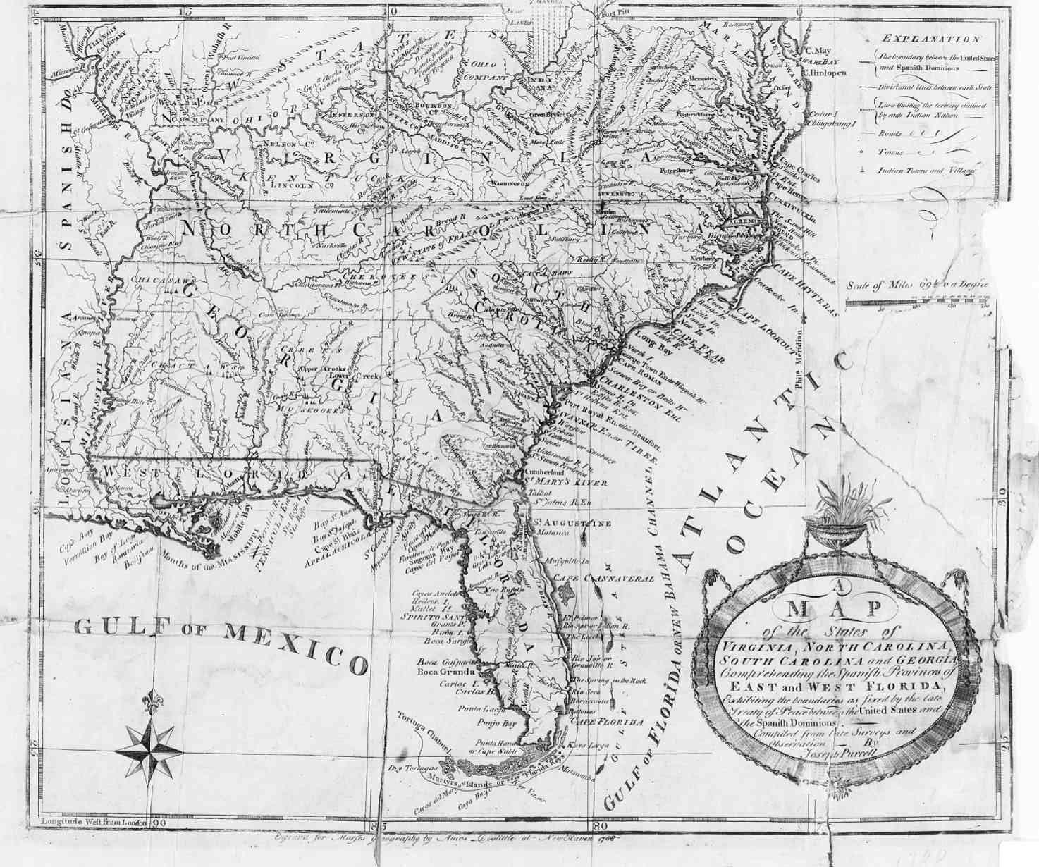 Map of Virginia North Carolina South Carolina Georgia Florida
