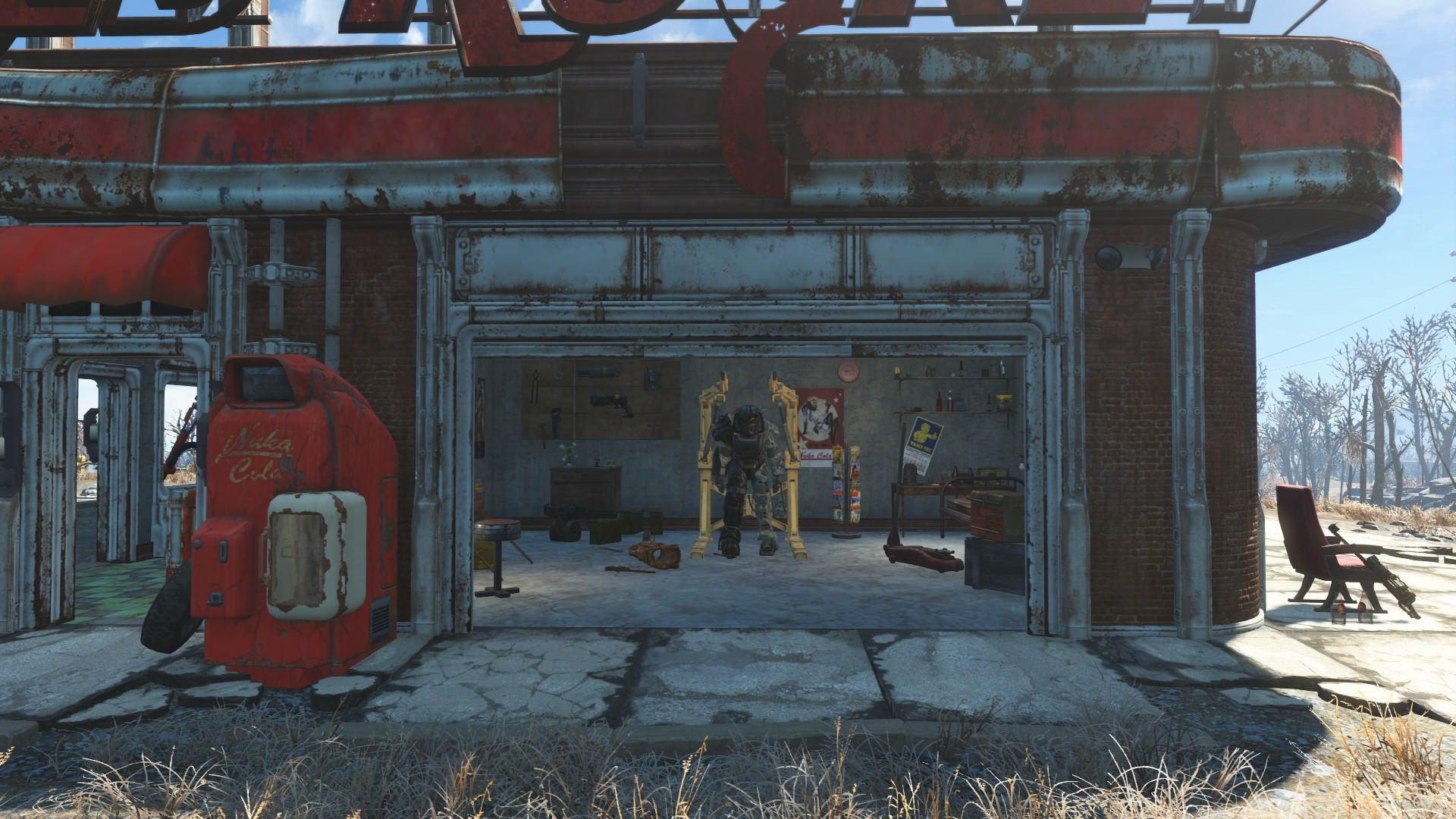 I Tried To Recreate The Main Menu Garage In Red Rocket Station Fallout4