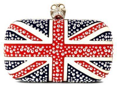 Jubilee weekend with Alexander McQueen Union Jack box clutch on bagservant.co.uk