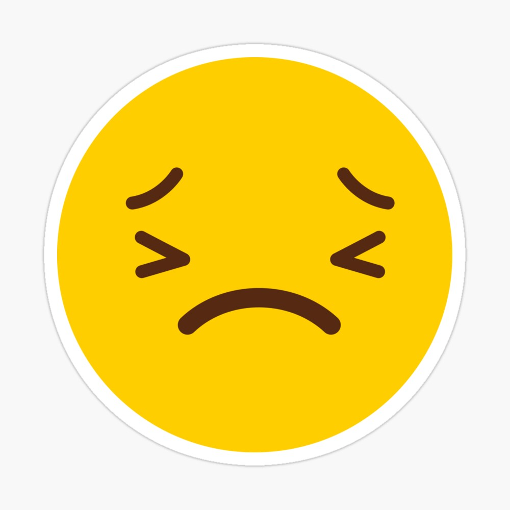 Frowning Face Gift Yellow By Tis Noow Redbubble Face Gift Frowning Face