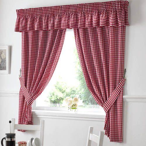 Gingham Red Kitchen Curtains Tony S Textiles Tonys Textiles