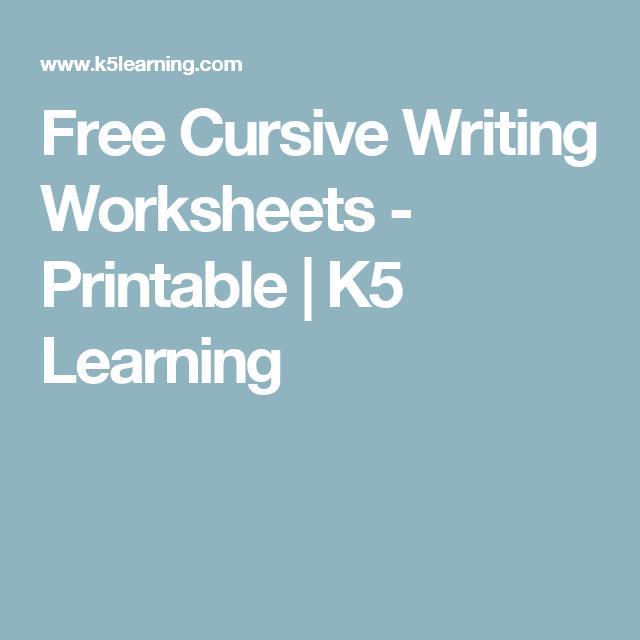 Free Cursive Writing Worksheets Printable K5 Learning Writing