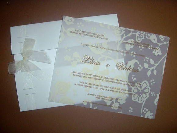 Lindo Convite De Casamento Pode Ser Impresso Em Papel Vegetal Co