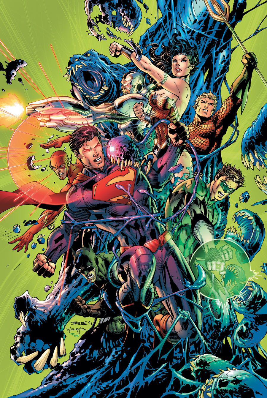 Modern Book Cover Artists : Justice league by jim lee comic books graphic novels