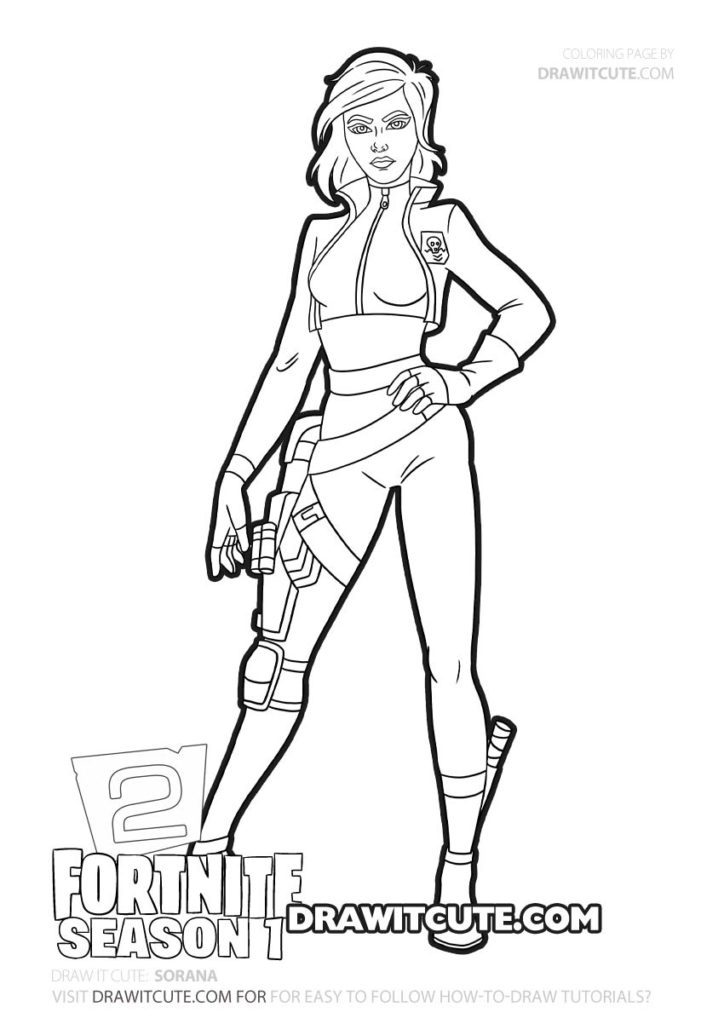Sorana Fortnite Chapter 2 Coloring Page Draw It Cute Cute Coloring Pages Coloring Pages Drawings