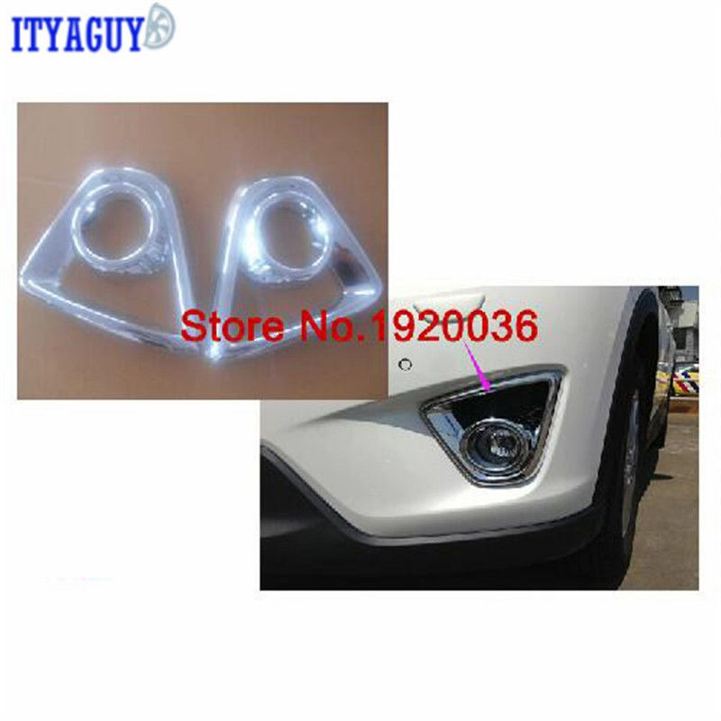 Car Styling Front Fog Light Lamp Cover Trim For Mazda Cx 5 Abs