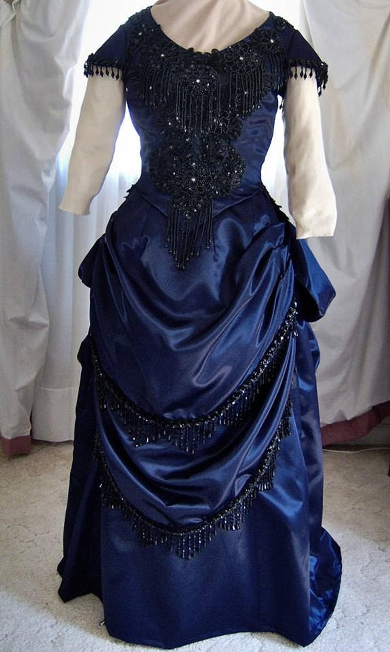 FOR ORDERS ONLY Custom Made 1880s Victorian Dress
