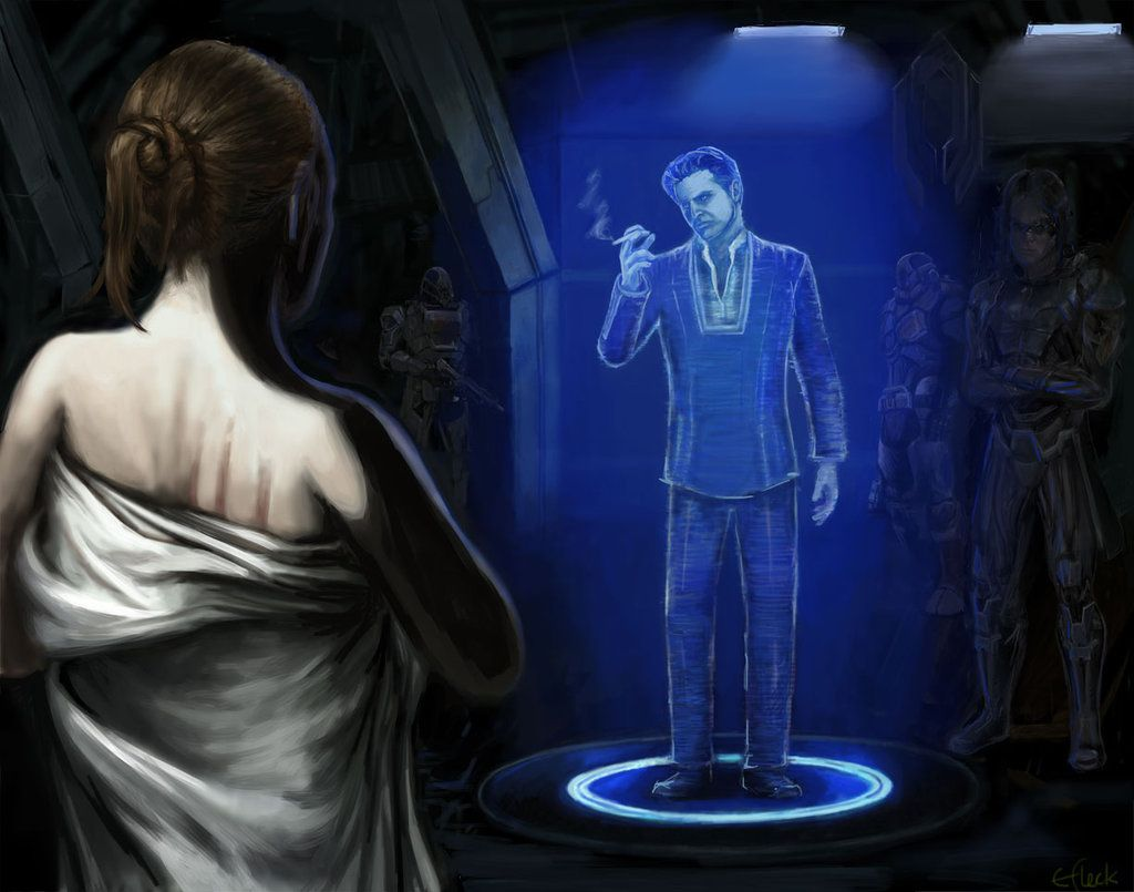 Andromeda - Meeting with the Illusive Man by efleck.deviantart.com on @deviantART