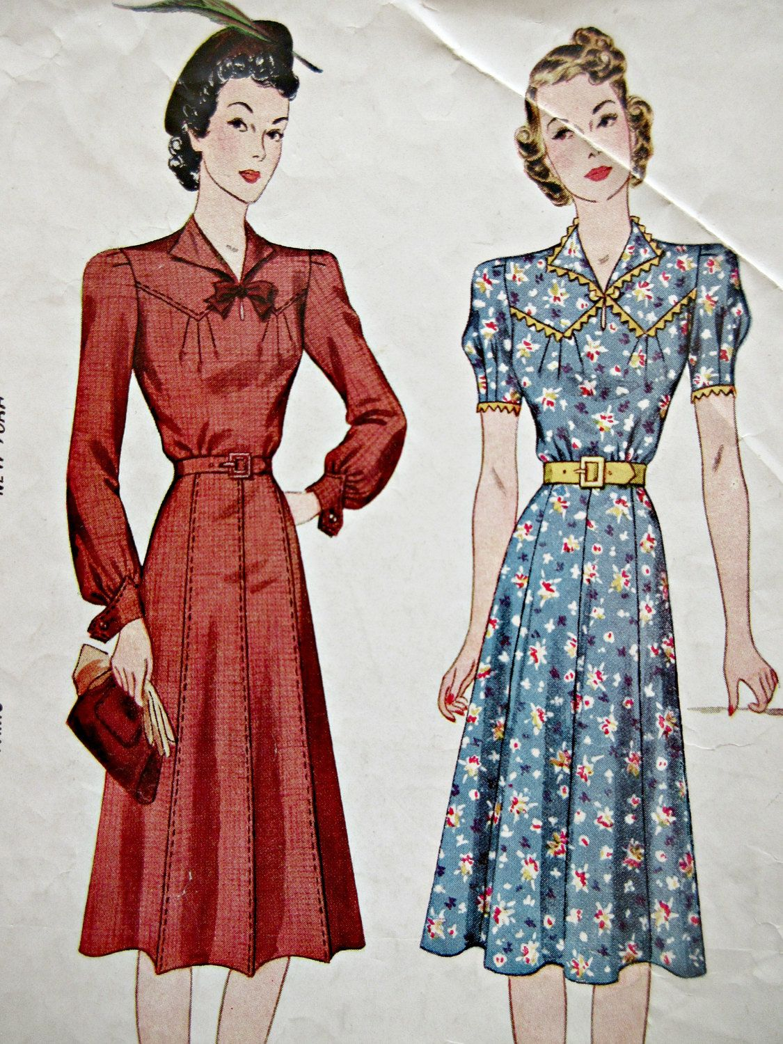 Vintage simplicity 3264 sewing pattern 1930s dress pattern day vintage simplicity 3264 sewing pattern 1930s dress pattern day dress pattern bust 36 jeuxipadfo Choice Image