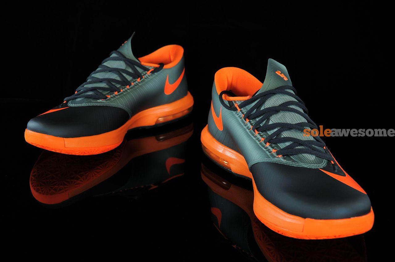 9dd8206b093d Nike KD VI Anthracite Total Orange Detailed Pictures