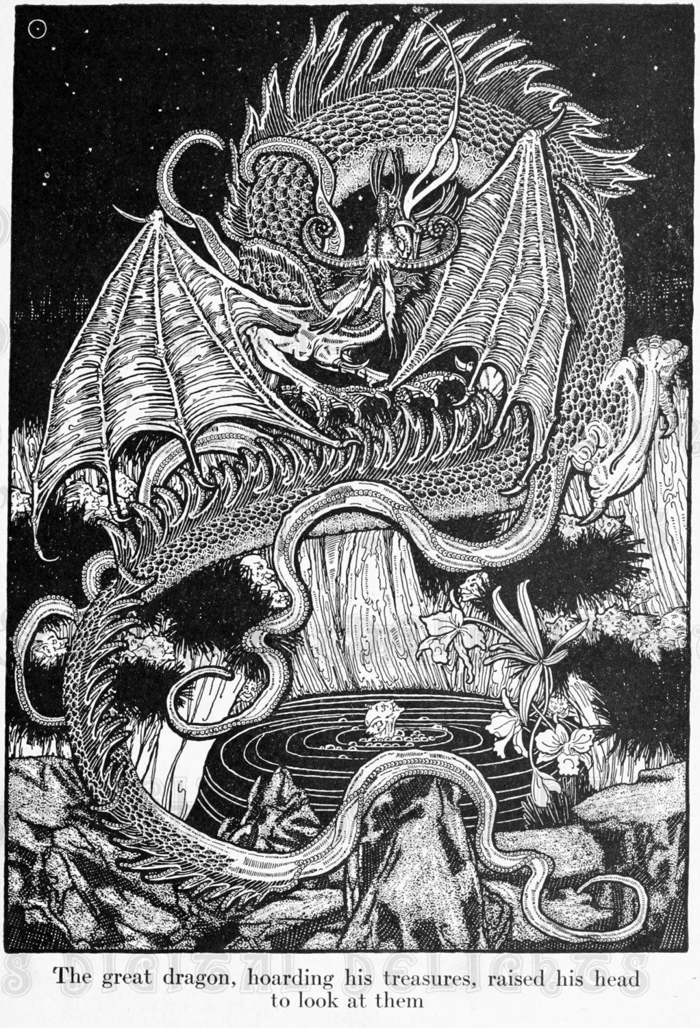Dragons In Old Book Illustrations