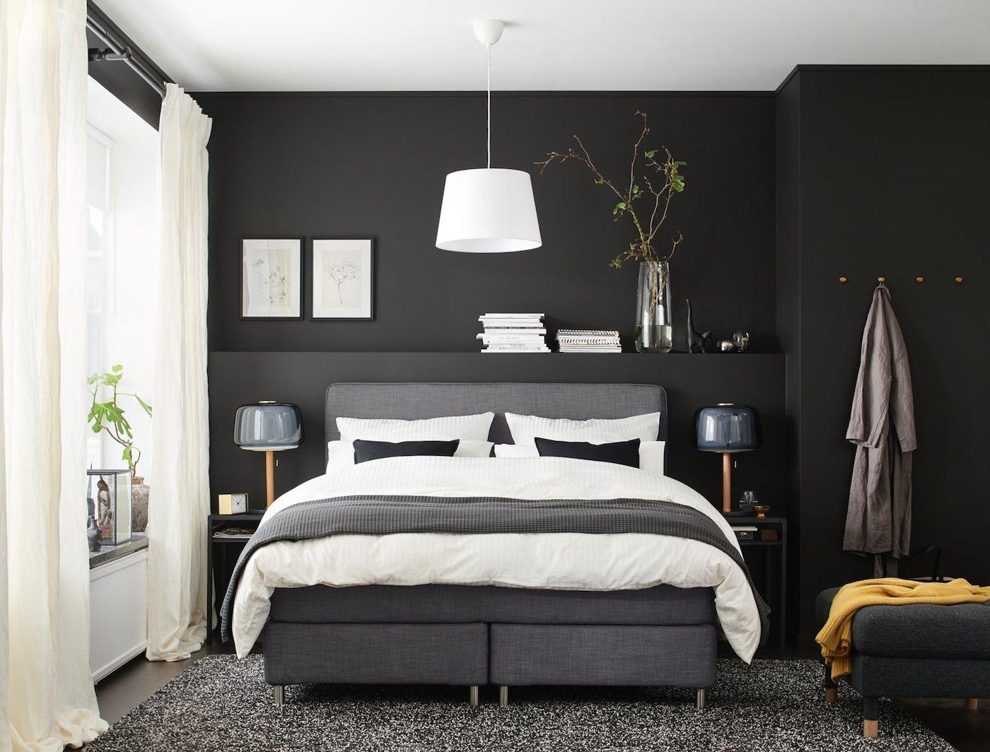 Dunkles Schlafzimmer Stilvoll Und Modern In 2020 Dunkles
