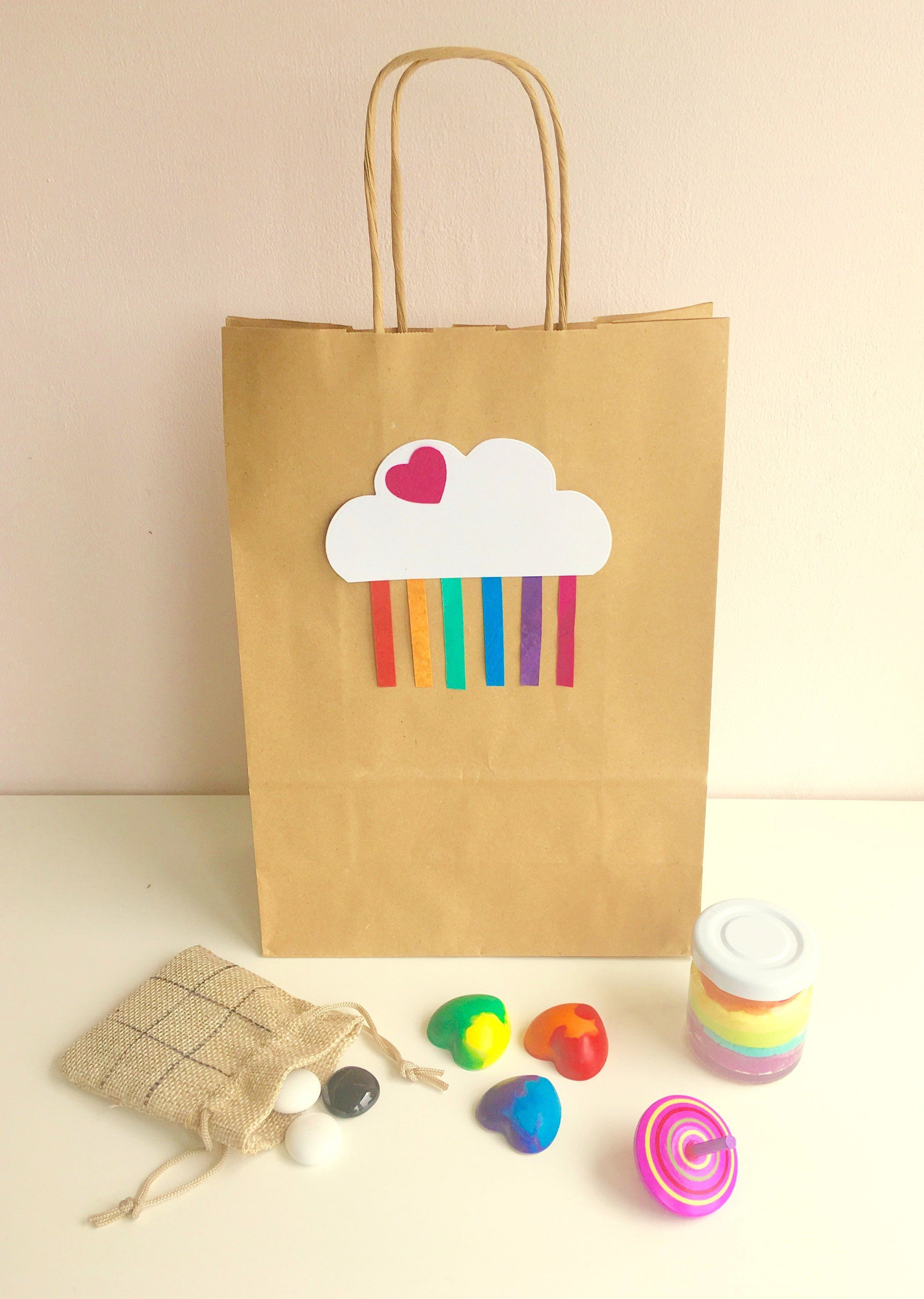 Pre Filled Eco Friendly Party Bags Rainbow Theme X4 X6 X8 No Plastic Personalised Childrens Party Bags Party Bags Party Bags Kids
