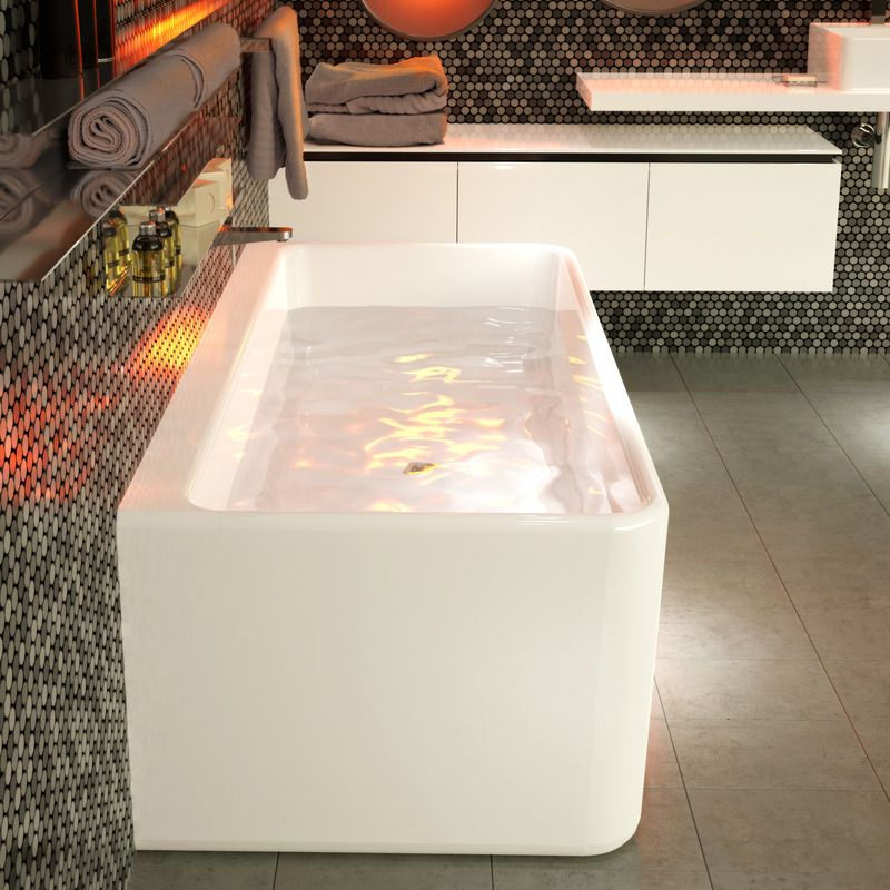Cube 1800 Back To Wall Freestanding Bath Http Www Caroma
