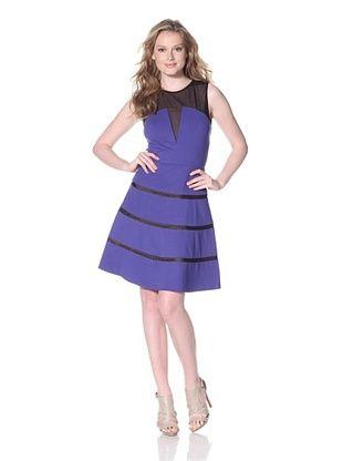 Erin Fetherson Women's Hannah Ponte Dress with Mesh (Spectrum Blue)