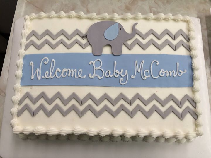 Simple Boy Baby Shower Cakes ~ Cute baby shower cake for baby strusa different color band in