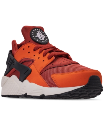 a5d15da6c1278 Nike Men s Air Huarache Run Running Sneakers from Finish Line - Orange 10.5