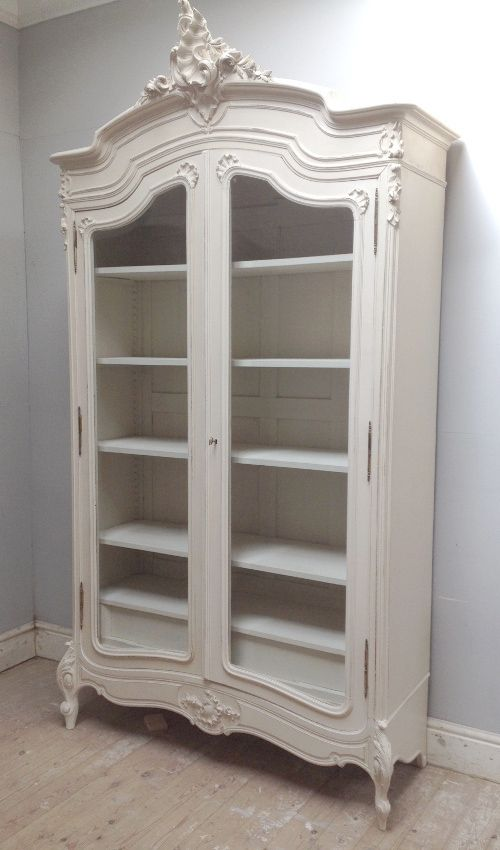 beautiful rococo french armoire antique painted furniture 39 lime white 39 distressed. Black Bedroom Furniture Sets. Home Design Ideas
