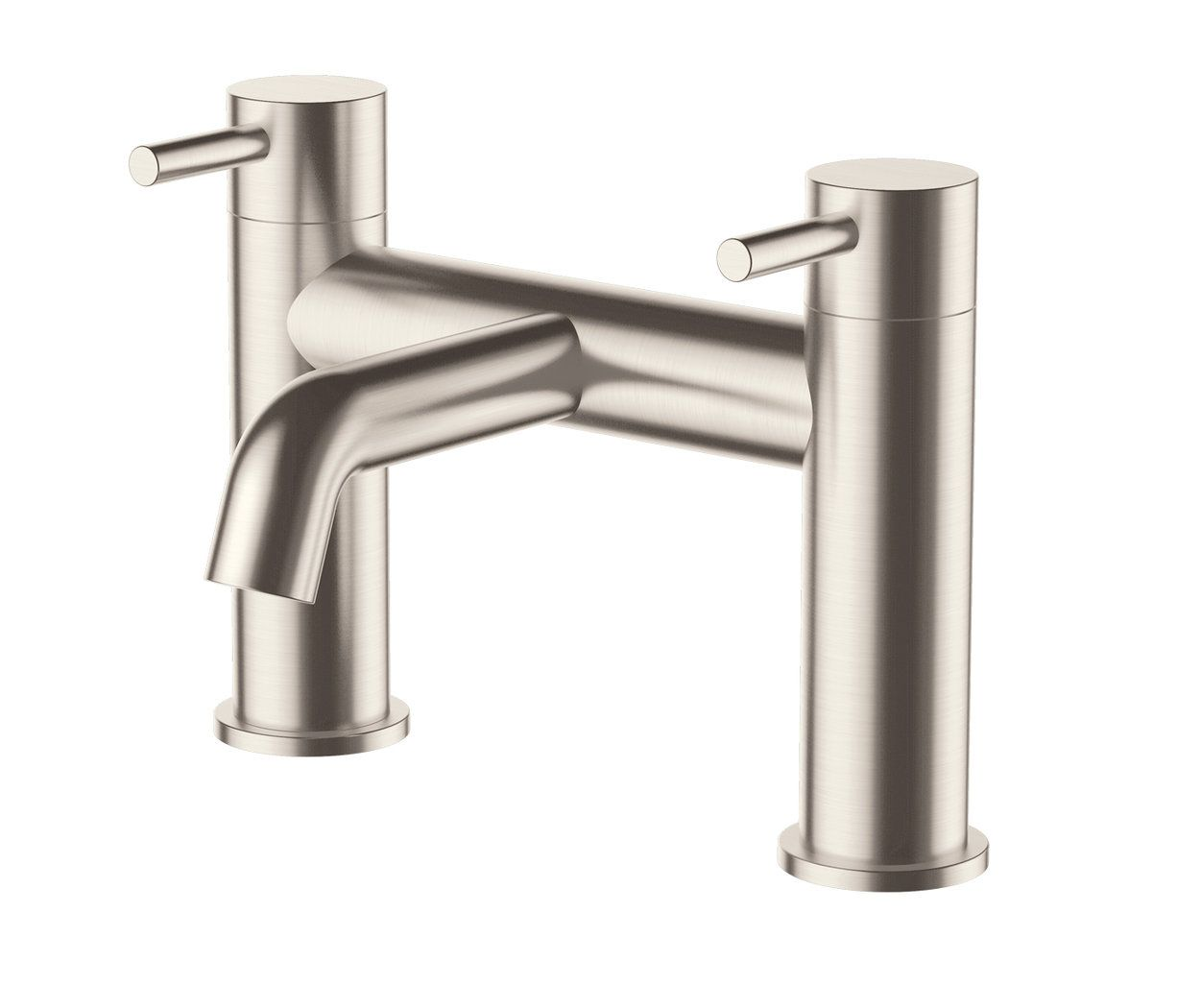 Inox Ix223 Brushed Stainless Steel Colour Bath Filler Tap Deck Steel Bath Brushed Stainless Steel Steel Deck
