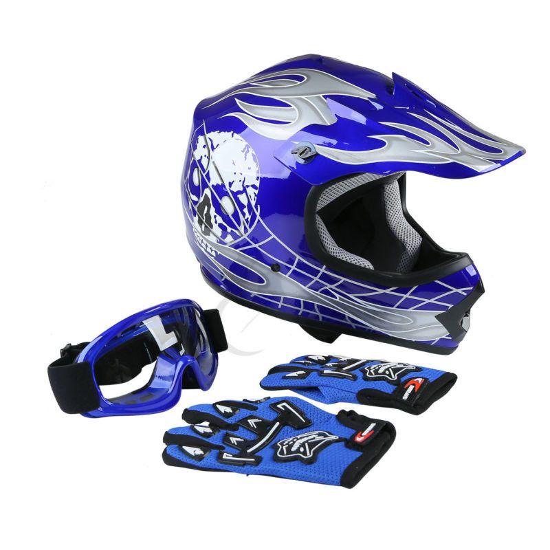 Apparel S M L Xl Youth Kids Dirt Bike Motocross Atv Skull Dot