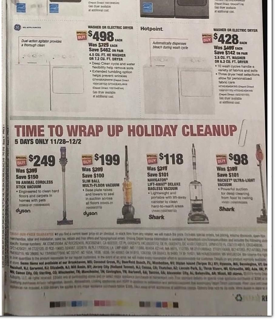 Home depot black friday ad scan deals and sales 2019