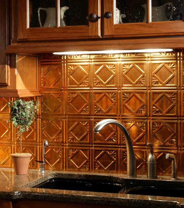 Countertop Sink & Backsplash  Ceiling Panels Tin Ceilings And Resin Delectable Tin Backsplash For Kitchen Review
