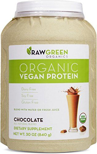 Raw Green Organics Organic Vegan Protein Chocolate All Natural Blend 30 Oz 840 Grams Want Additional Info Click On The Image