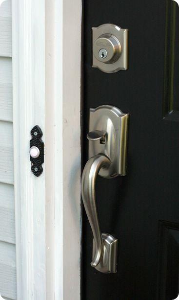 Door Details Front Door Handles Schlage Door Handles Black