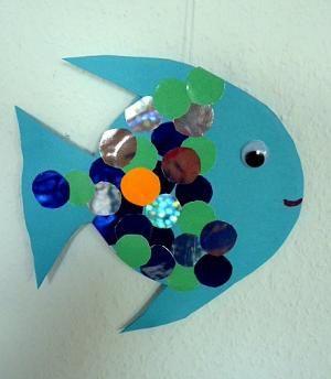 Bastelsachen basteln fisch aus bierdeckel mit - Fische basteln vorlagen ...