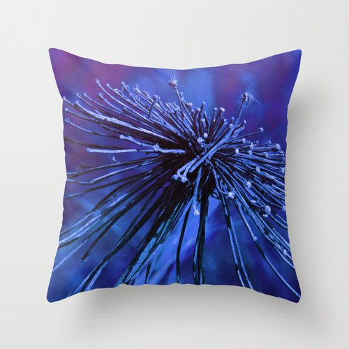 Wild Flower Pillow Cover Purple Blue Pillowcase by YarsPhotography, $30.00 #wildflower