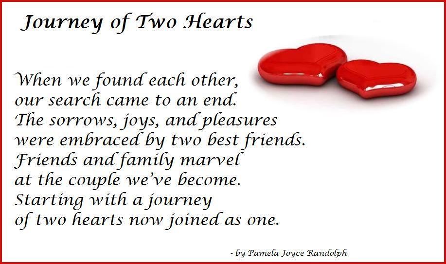 Journey Of Two Hearts Original Poem By Pamela Joyce Randolph